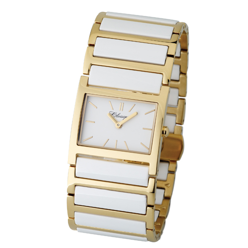 The new white ceramic and gold watch from Classique