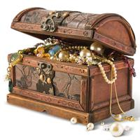 The treasure chest prize draw contains items donated by various suppliers