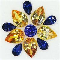 Yellow and blue sapphires from Coolamon Mining