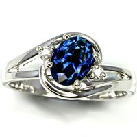 Blue sapphire in ring - Peter Brown Gem Gallery Australian QLD Fields