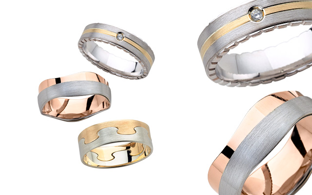 Worth & Douglas' wedding ring collection