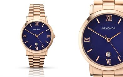 Sekonda's rose gold-plated watch