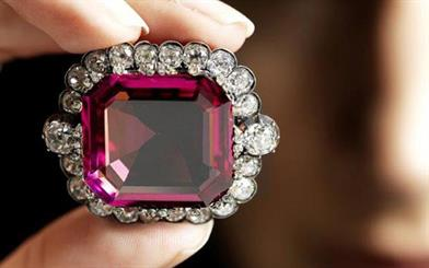 The Hope Spinel is expected to fetch up to $440,000 at auction. Source: Forbes