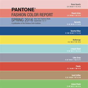 Pantone spring 2016 colour report