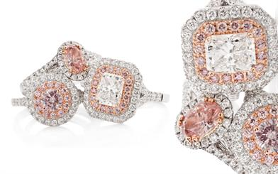 Lost River Diamond's white and rose gold diamond rings
