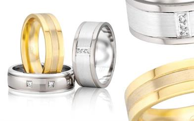 Peter W Beck's multi-tone gold rings