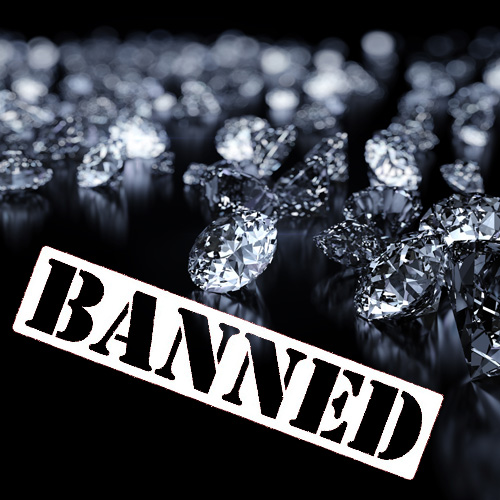 A diamond bourse has banned synthetic stones from its premises