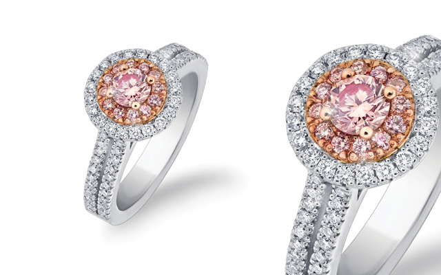 Pink Kimberley's diamond ring