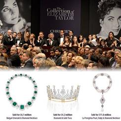 The ancipated auction of late actress Elizabeth Taylor's world-renowned jewels took in $US116 million.