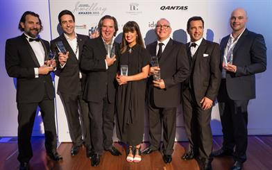 (L–R) Award winners Panos Levendi, Olivar Musson, Robert Musson, Laura Pivavoroff, Berj Ohanessian, Mike Levendi and Robert Opat