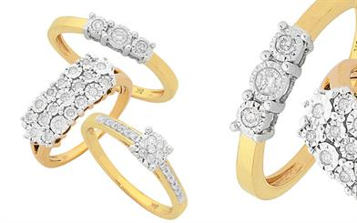La Couronne's set of diamond rings