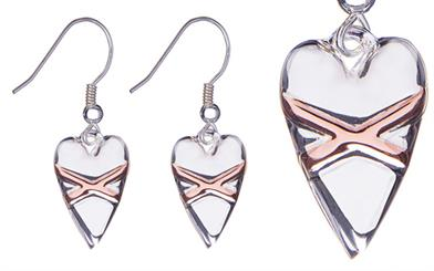 Fabuleux Vous' Cross My Heart earrings
