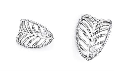 Pandora's sterling silver palm leaf ring