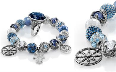 Thomas Sabo's sterling silver ring and charms