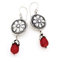 Featuring coral and red bamboo, these elegant earrings are the latest from Hamilton Hall