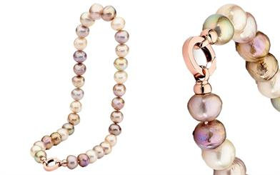 Ikecho Pearl Company's freshwater pearl necklace