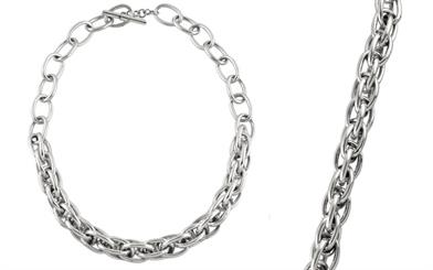 Ichu Jewellery's sterling silver bracelet and necklace