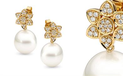 Allure South Sea Pearls' flower earrings