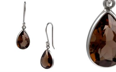 Blue Turtles' smoky quartz earrings