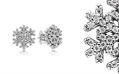 Pandora's snowflake earrings