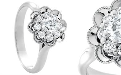 Bolton Gems' 18-carat white gold ring