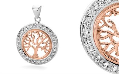 Stones & Silver's rose gold pendant