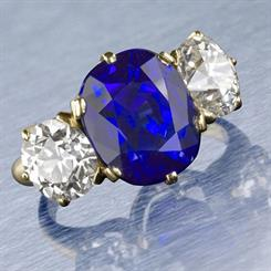 A Tiffany & Co 7.84-carat Kashmir sapphire ring has set a new world auction record
