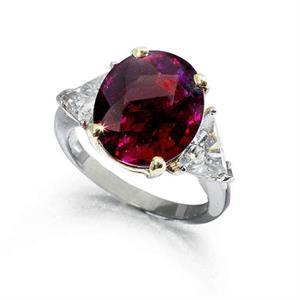 The 10.28-carat Madagascan ruby ring