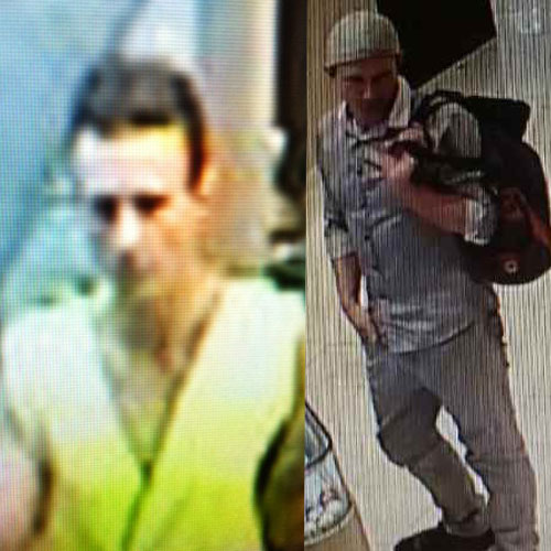 Police released CCTV images of a man they believe stole three diamond rings. Source: Victoria Police