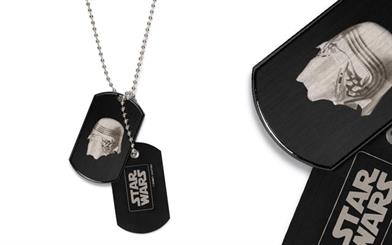 Star Wars Disney Couture collection's Kylo Ren dog tag-style necklace