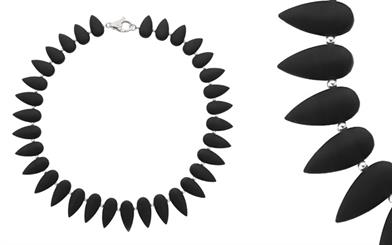 Najo's matte black onyx necklace