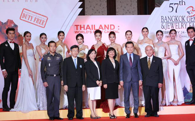 The official announcement of the 57th Bangkok Gems and Jewelry Fair