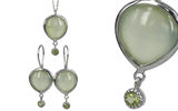 Moorejewels' sterling silver pendant and earrings