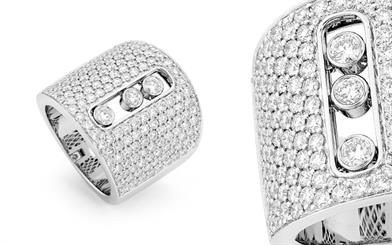 Ordysé by Sparkle Impex's white gold pavé ring