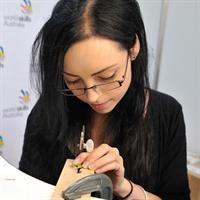 WorldSkills regional gold medallist Chloe Biddiscombe demonstrated her skills