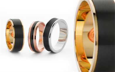 Rings from Worth & Douglas' Ziro collection