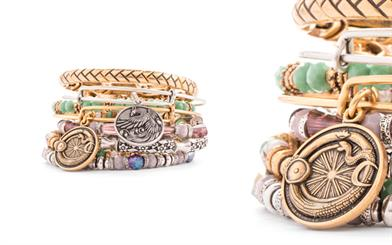 A sample of the new collection from Alex and Ani