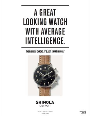 An advertisement from Shinola