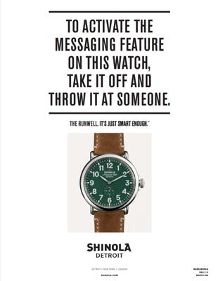 Another example of a Shinola advertisement