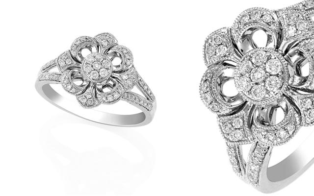 Protea Diamonds' art deco ring