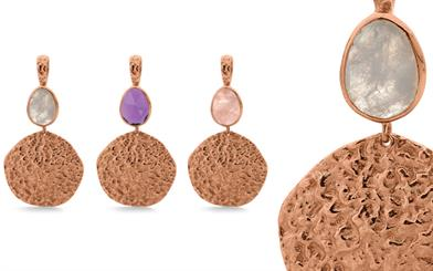 Stones & Silver's rose-gold plated sterling silver pendants