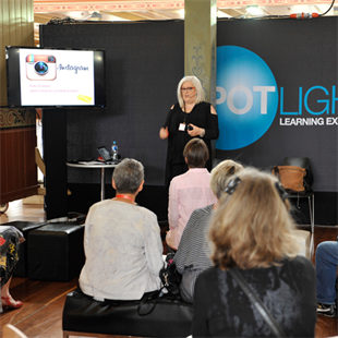 A social media presentation at the Melbourne Jewellery Fair 2016