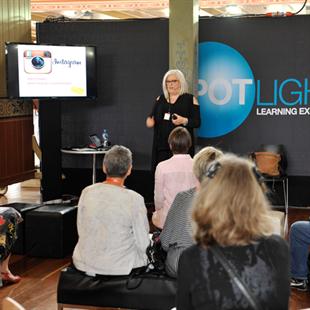 A social media presentation at the Melbourne Jewellery Fair 2016
