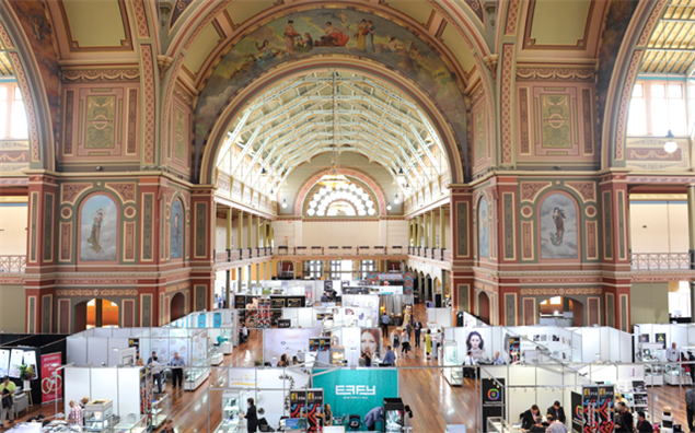 An overview of the trading floor of the Melbourne Jewellery Fair 2016