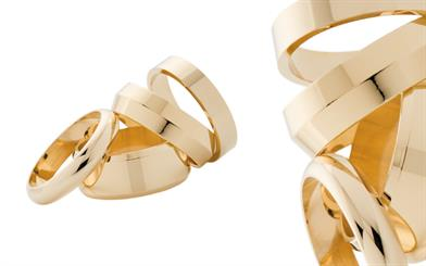 A range of TWM Co's silver-filled wedding rings
