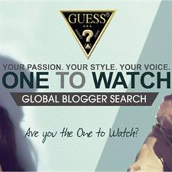 The Guess Watches blogger search begins in May.