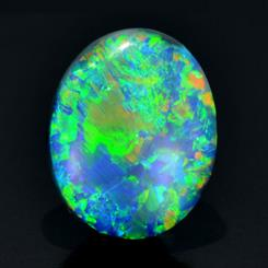 A 5.95-carat black opal will be among the lots offered at the auction