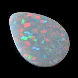 6.8-carat dark opal with harlequin pattern