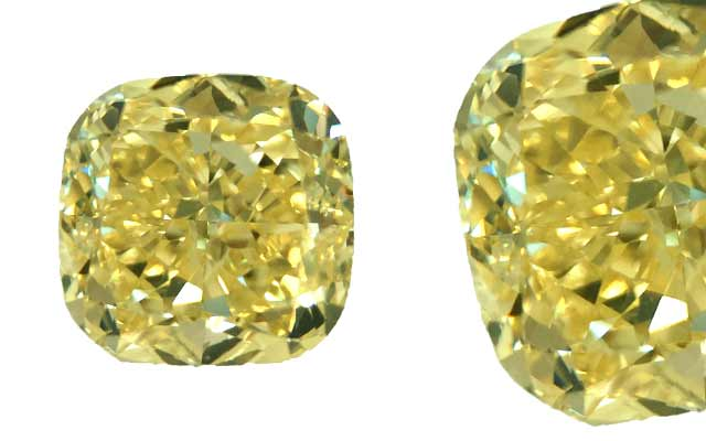 Vital Diamonds International's fancy yellow cushion-cut diamond
