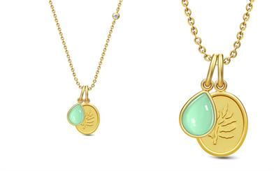 Julie Sandlau's Aurora gold-plated necklace